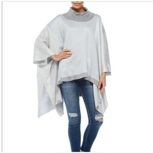 NWT Pullover Poncho Block Color Sweater